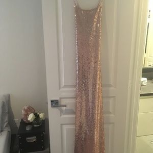 Urban Outfitters Rose Gold Sequin Maxi Dress